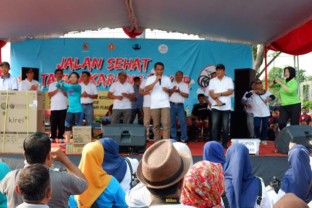 KodimKaranganyar - Jalan Sehat Warnai Hari Jadi ke 102 Kabupaten Karanganyar