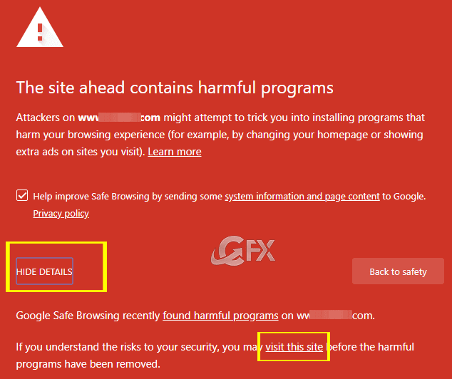 google chrome The site ahead contains harmful programs- www.ceofix.net