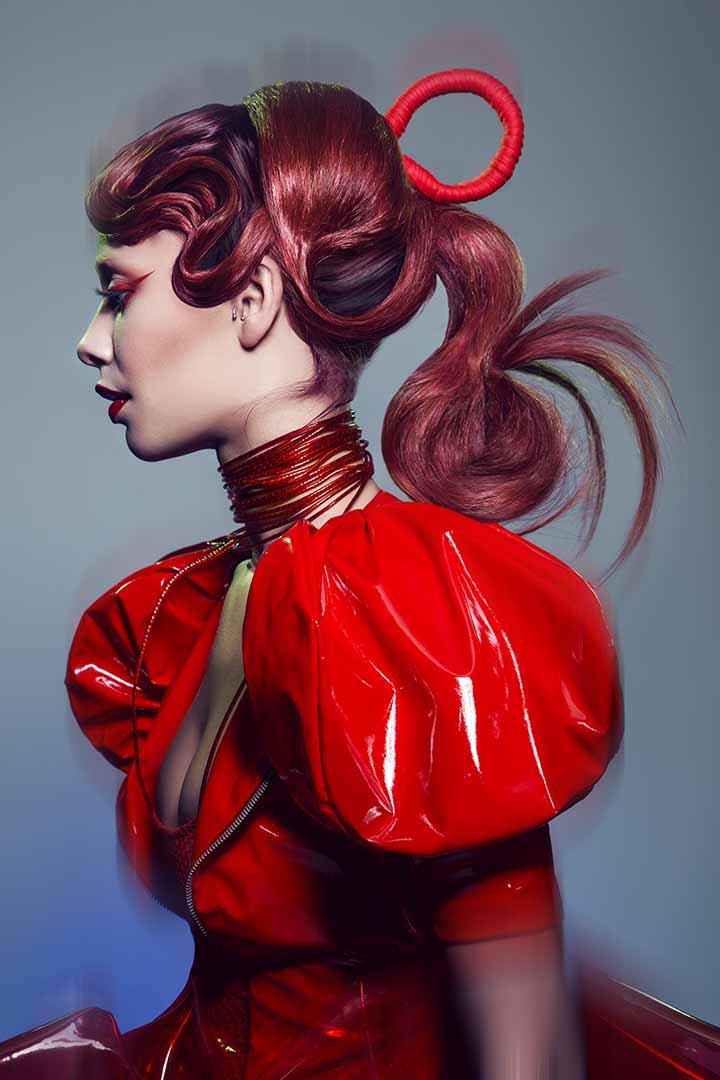 color de pelo tinte rojo 2020