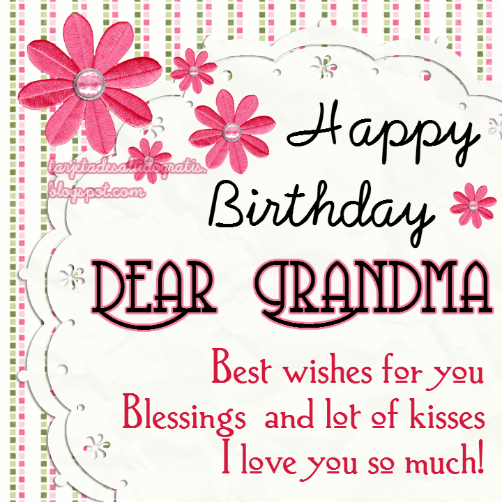 Happy birthday Dear Grandma free e-card