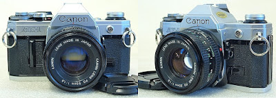 Canon AE-1 (Chrome) Body #007, Canon New FD 50mm 1:1.8 #378