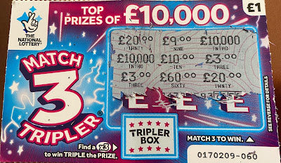 Match 3 Tripler National Lottery Scratchcard