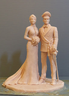 cake topper artistici realizzati a mano statuette per torta nuziale da colorare milano orme magiche