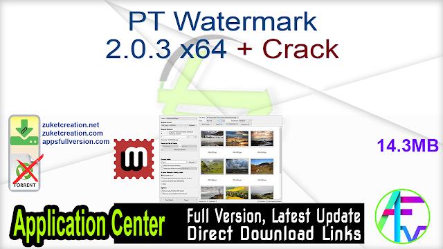 PT Watermark 2.0.3 x64 + Crack