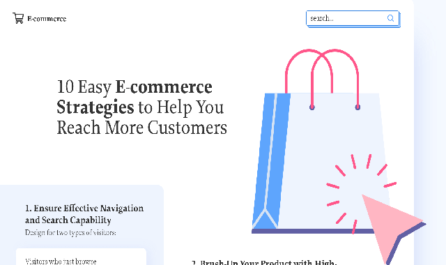 10 Easy E-commerce Strategies to Help You Reach More Customers #infographic