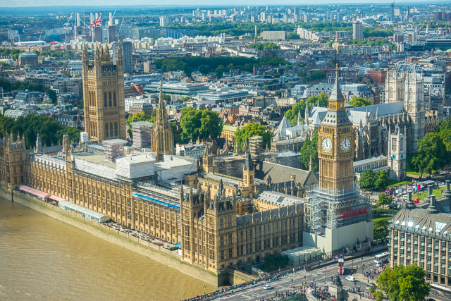 View from London Eye - London, England