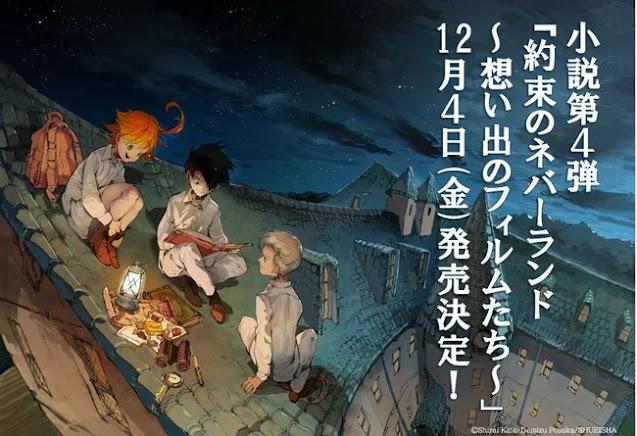 Yakusoku no Neverland Mendapatkan Seri Novel Ke-4!