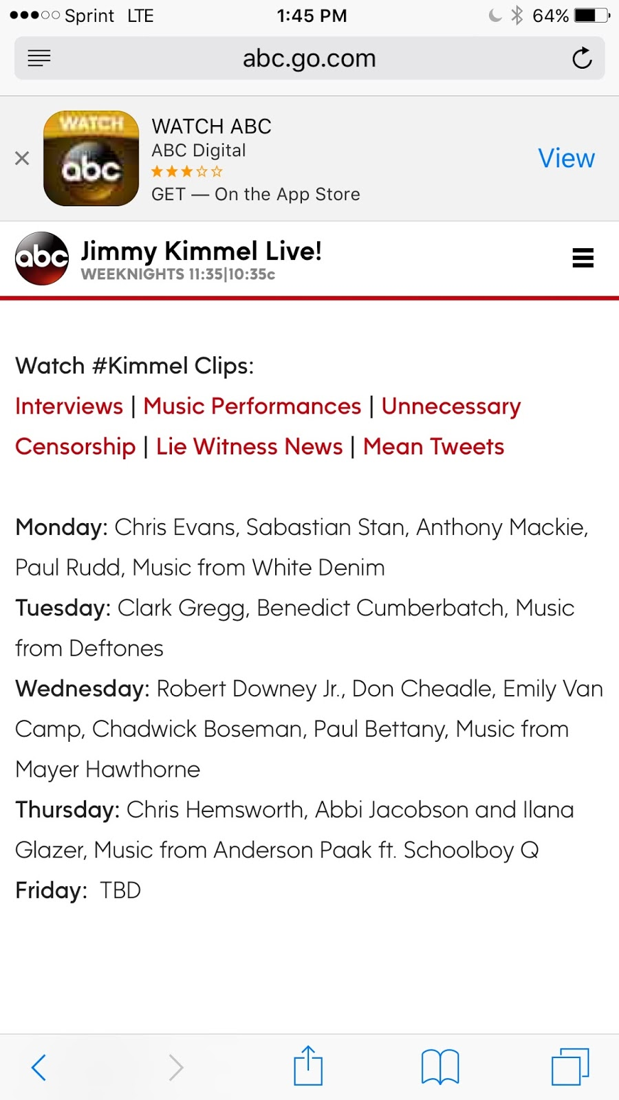 Cali 7: Jimmy Kimmel Live!