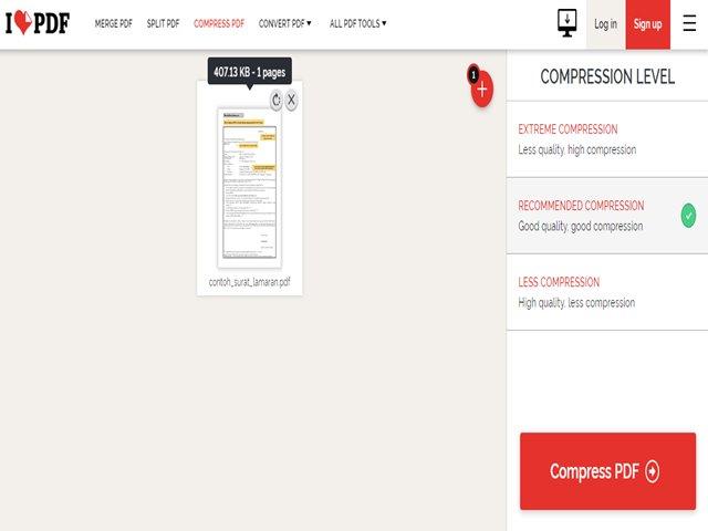 Cara Kompres PDF Online Untuk Contoh Surat Lamaran CPNS 2019