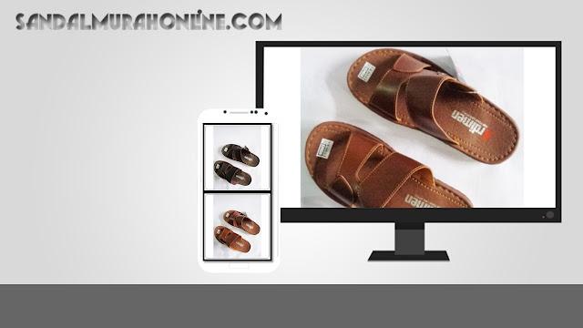 Distributor Sandal Kulit imitasi Ardimen Pria yang modis