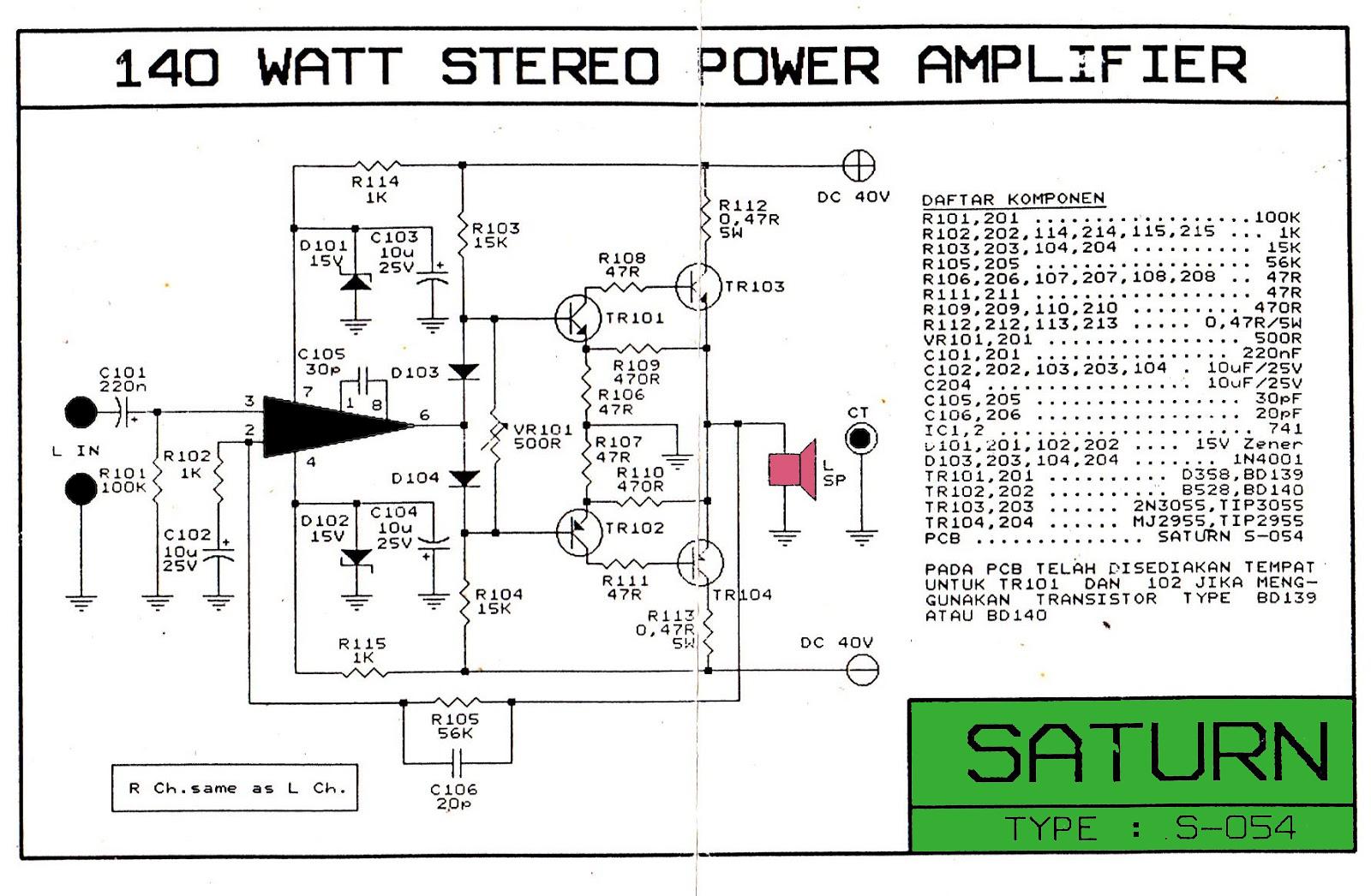 Skema Power 140 Watt Mono Dan Layout Pcb Blogkamarku