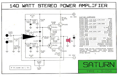 skema power 140 watt mono Dan Layout PCB