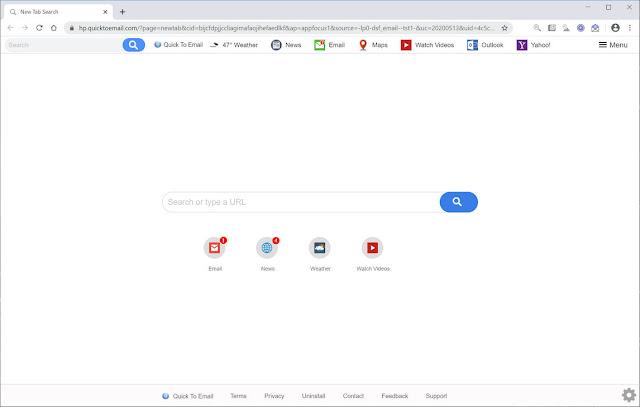 Search.quicktoemail.com (Hijacker)