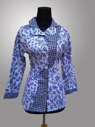 Model Baju Batik Guru Wanita Modern Terbaru