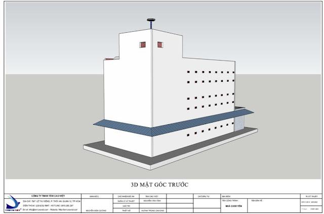 Mẫu thiết kế nhà nuôi yến mặt gốc trước 8x18x3 tại Tri Tôn tỉnh An Giang