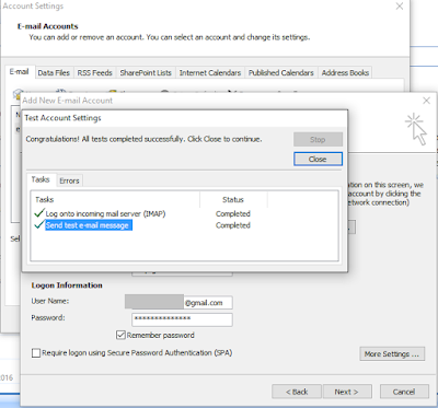 outlook gmail configuration
