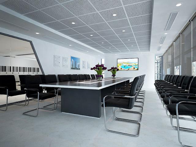 Thiết kế phòng họp hiện đại với sức chứa tốt cho công ty đông nhân viên