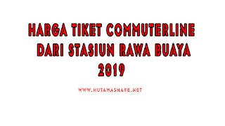 Harga Tiket Commuterline Dari Stasiun Rawa Buaya Terbaru 2019