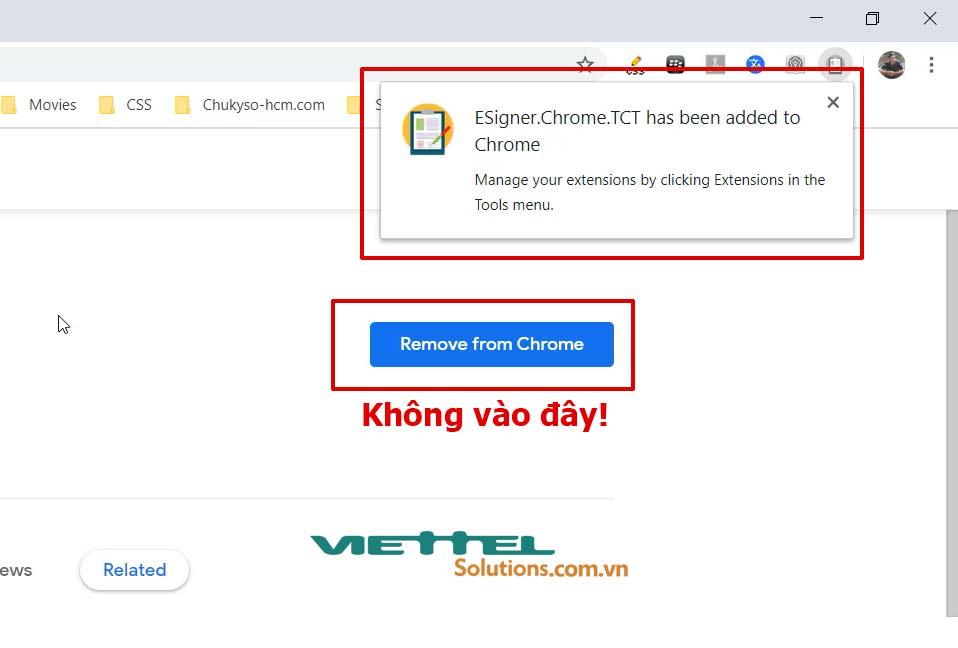 Hình 21 - Không nhấn vào nút Remove From Chrome