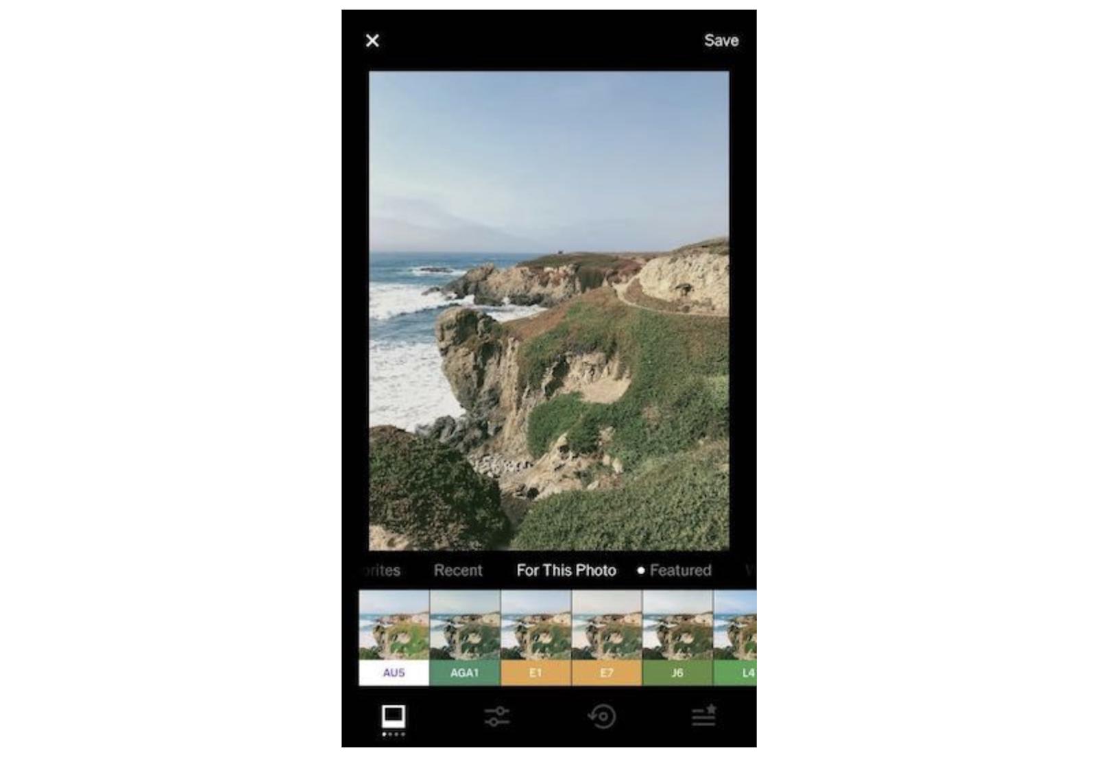 VSCO on mobile app
