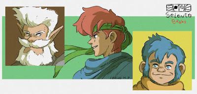 FANART BY SELENTO BOOKS Lord Varios, Max & Lowe Shining Force 1 (Sega Mega Drive/Camelot, 1992) 2 Julio 2020
