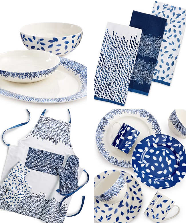 Serving pieces are also available a large salad bowl a large serving bowl and a serving platter. Linens such as napkins aprons and oven mitts are on ...  sc 1 st  Martha Moments & MARTHA MOMENTS: Martha\u0027s Stockholm Collection at Macy\u0027s