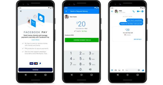 Facebook Pay ستتيح اجراء الدفعات عبر ماسنجر و واتس آب و انستغرام