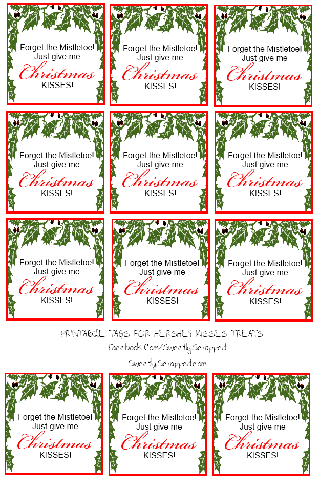 free hershey kisses labels template - sweetly scrapped hershey kisses tags and bag toppers