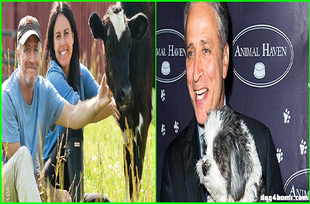 Jon Stewart Turned His 45-Acre Farm Into An Animal Sanctuary To Rescue Abused Factory Farm Animals