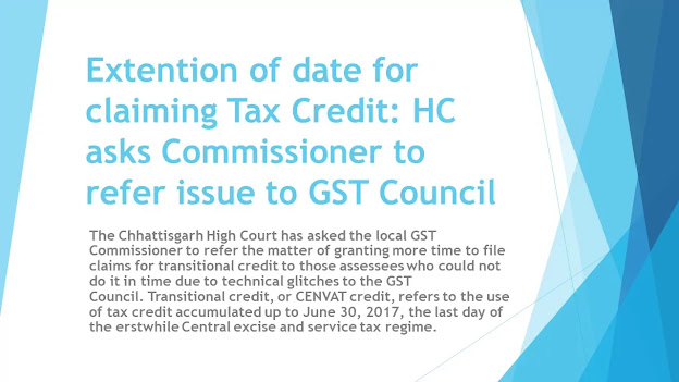Extention of date for claiming Tax Credit:High Court