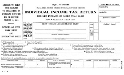tax form 1918