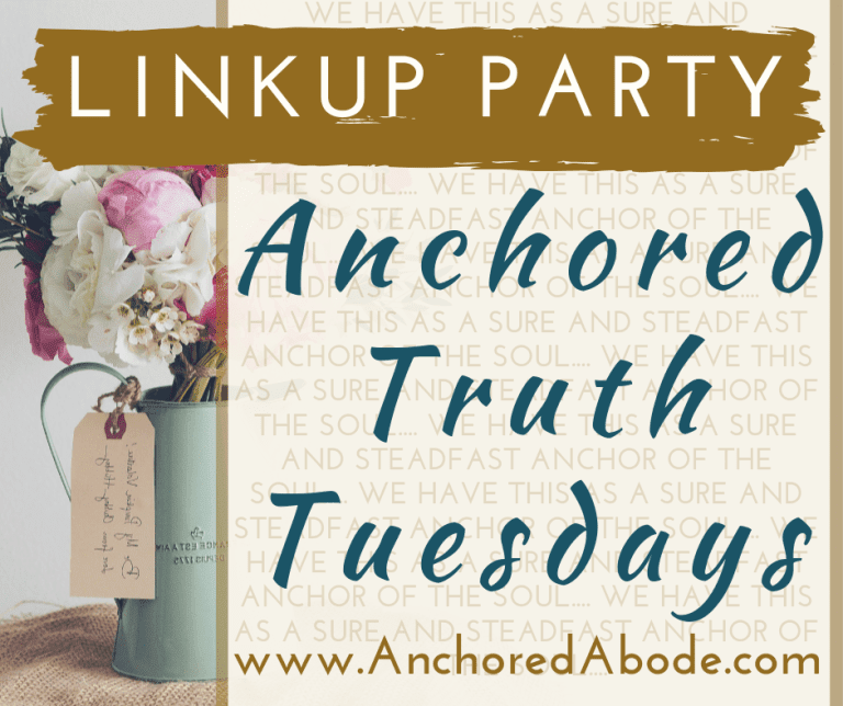 Anchored Tuesday Linkup
