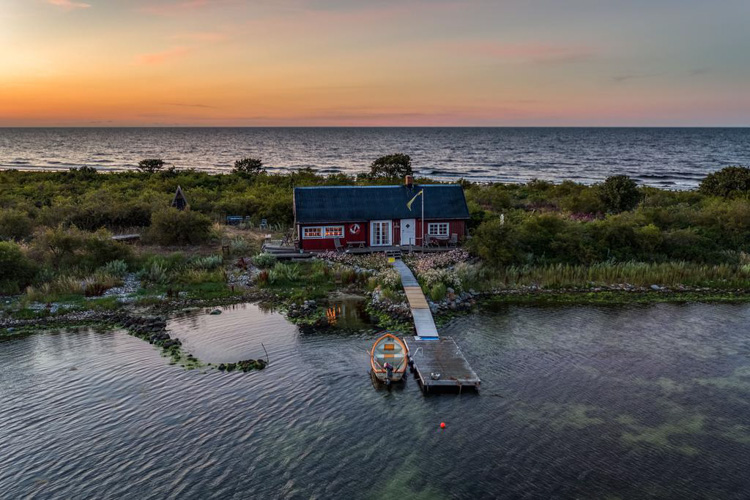 This Swedish Cottage On Its Own Island Could Be Yours!