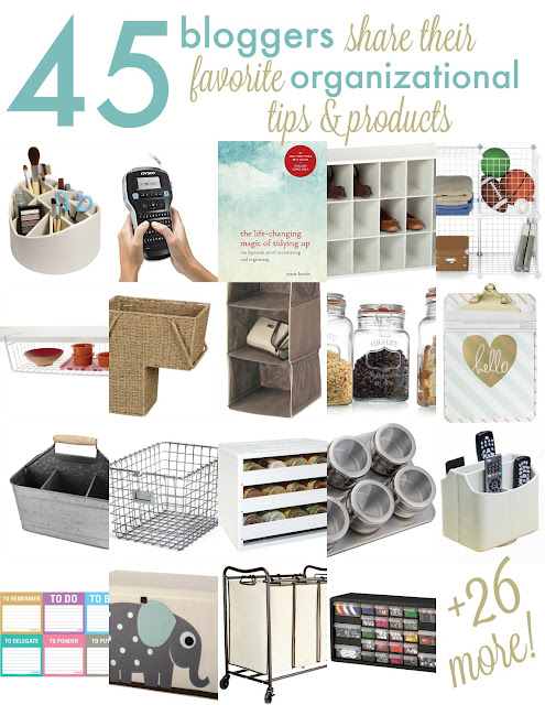 Get the best organizing product recommendations from 45 of your favorite bloggers- plus a huge Amazon Gift Card giveaway for two winners!