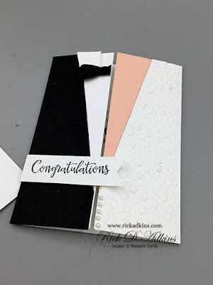 Today, I have a wedding card to share that's perfect for any bride and groom and it's a fun fold.  Click here to check it out