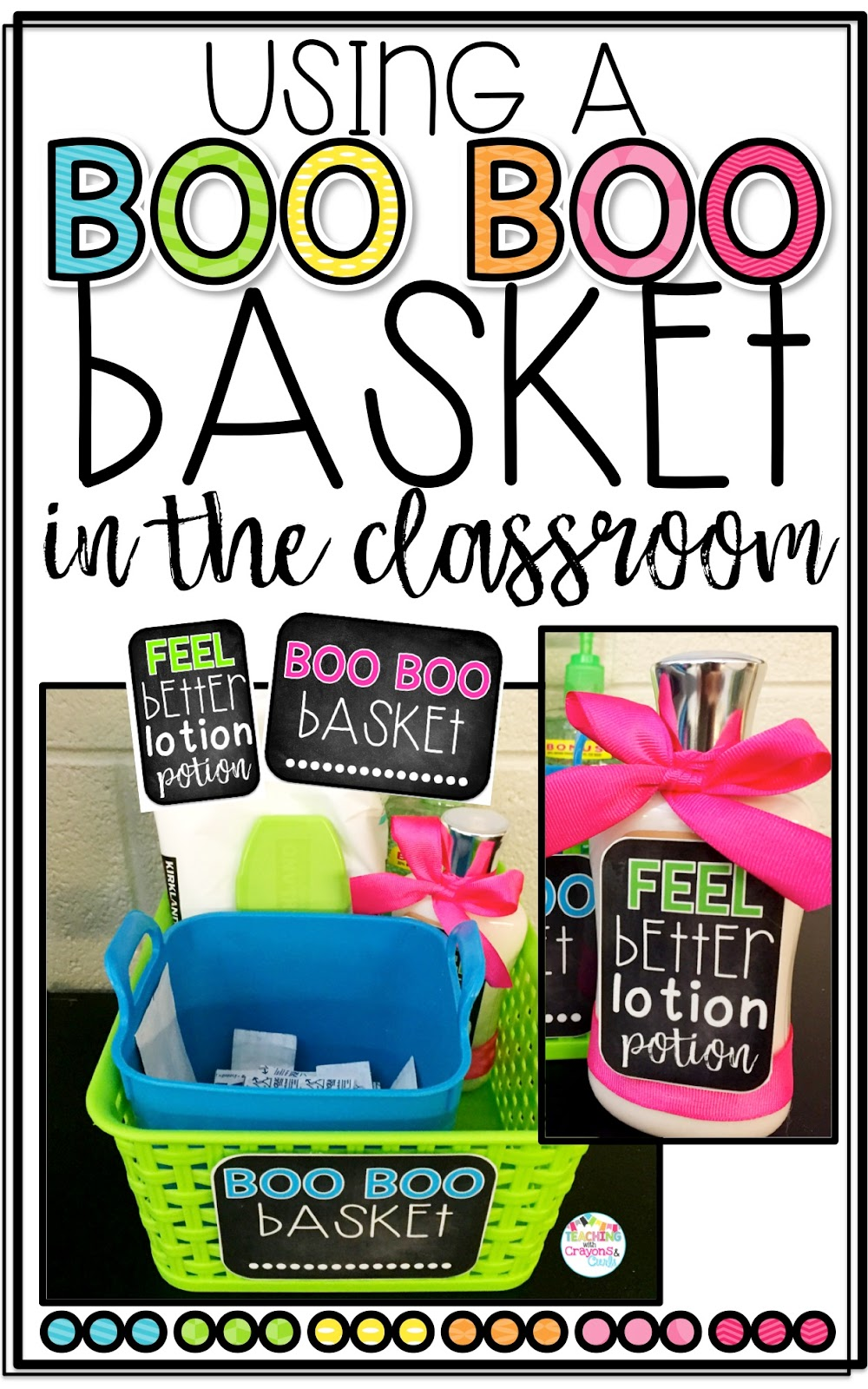 Classroom Decor Items ~ The primary peach using a boo basket in classroom