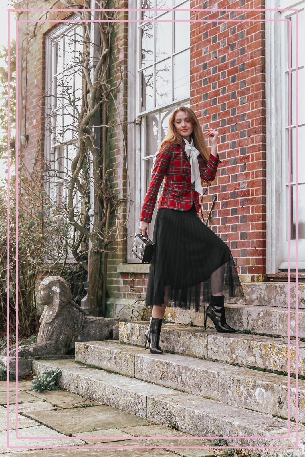 Styling Tulle Midi Skirt With Patent Ankle Boots