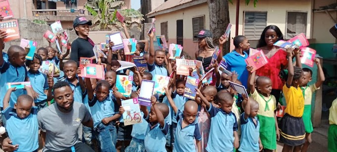 Mercy Wave Foundation Umuahia Commence Education Campaign, Donates Learning Material