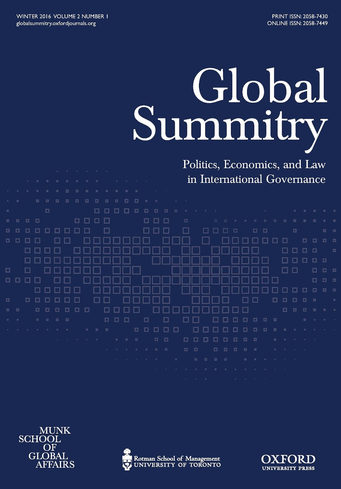 international law reporter new issue global summitry