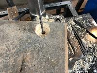 Drilling a 1 inch recess