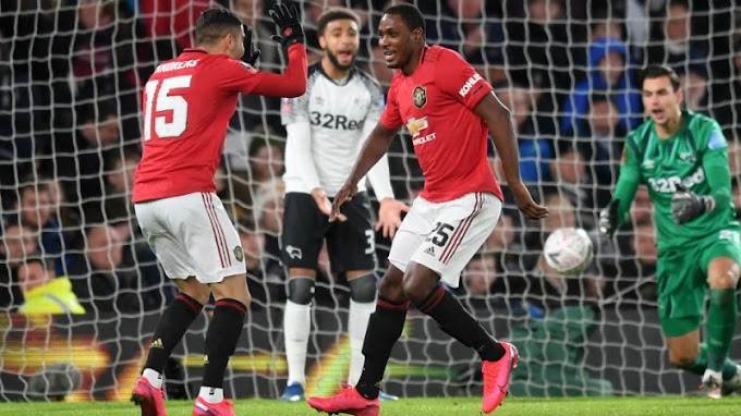 Derby 0-3 Utd: Shaw & Ighalo lead Utd ease past Rooney's side & reach FA Cup QFs