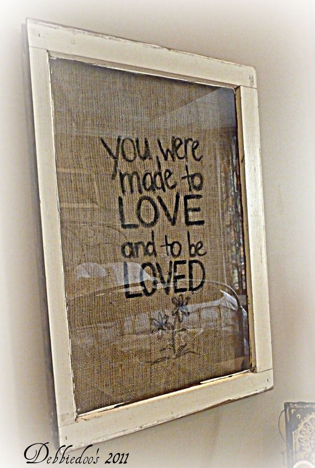 Diy Picture Frame With Glass Burlap Picture Frame You Were Made To Love Debbiedoo 39s
