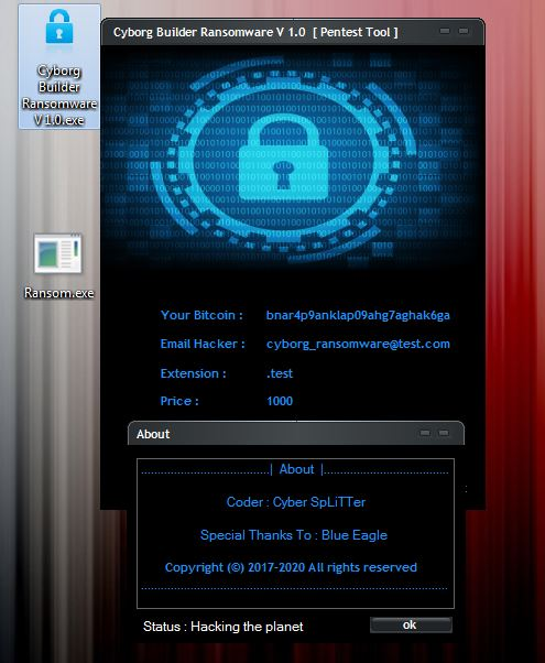 Cyborg Ransomware  - ransomware 2Bbuilder - Fake Windows Updater Launch Cyborg Ransomware On Windows PC