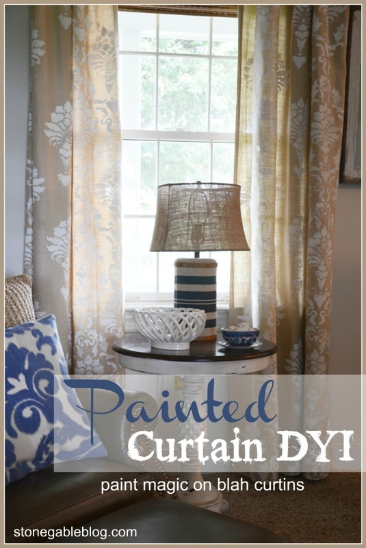 PAINTED CURTAINS DYI