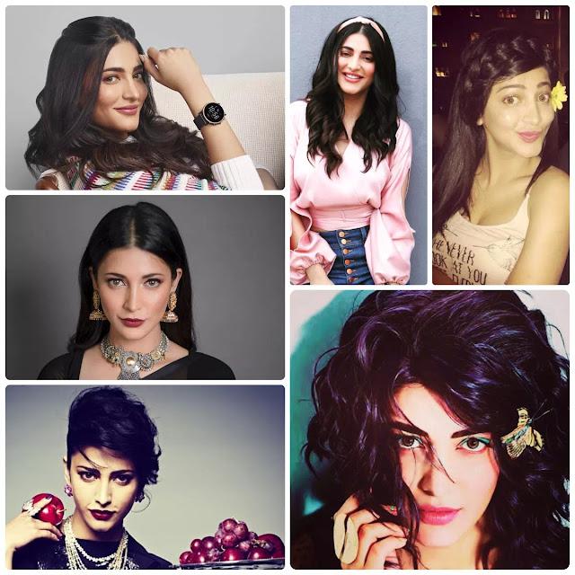 Shruti Kamal Haasan Hairstyles