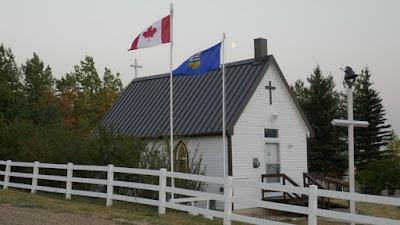 church, cemetery, Eagle Butte, Cypress Hills, Alberta, landscape, historical
