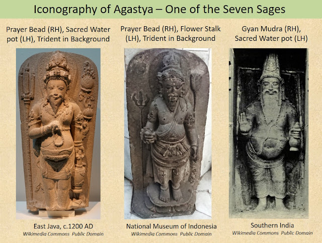 The iconography of the sage Agastya, who is regarded as one of the Seven Sages of the Vedic tradition