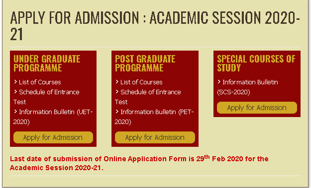 BHU LLB 2020 Application Form