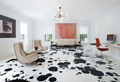 diseño de piso con manchas