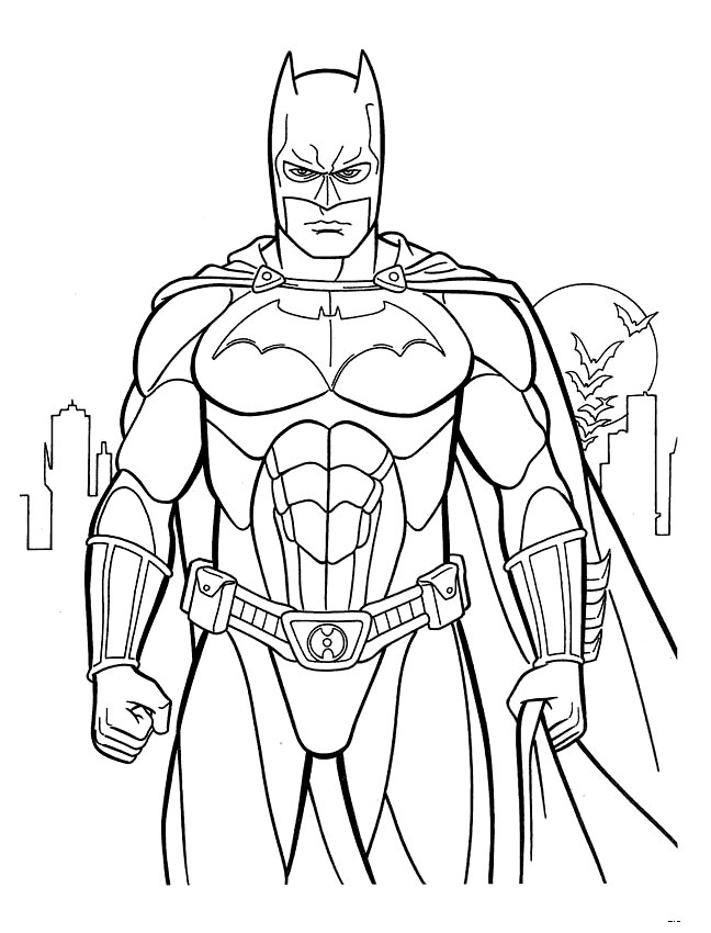 Kids Under 7 Batman coloring pages